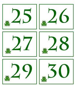 Frog Themed Calendar Pieces & Headings - Back to School