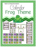 Frog Themed Calendar Set