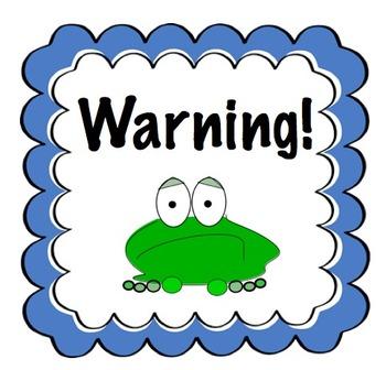 Frog Themed Classroom Behavior Clip Chart System