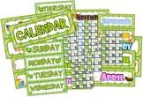 Frog Themed Classroom Calendar Set