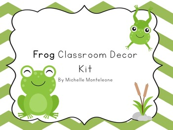 Frog Themed Classroom Decor