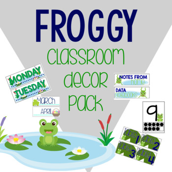 Frog Themed Classroom Decor