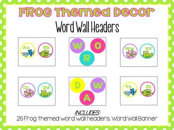 Frog Themed Classroom Decor with Color/Shape Posters