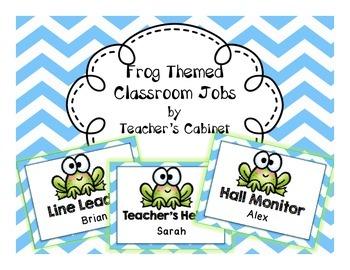 Frog Themed Classroom Jobs