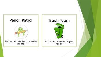 Frog Themed Classroom Jobs Cards (Editable)