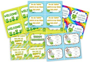 Frog Themed Classroom Materials Pack