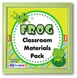 Frog Themed Classroom Bundle