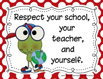 Frog-Themed Classroom Rules Posters