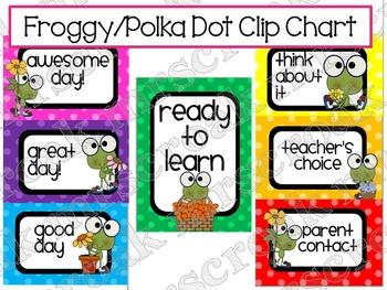 Clip Chart: Frogs & Polka Dots