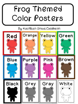 Frog Themed Color Posters