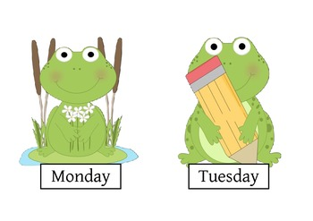 Frog Themed Days of the week
