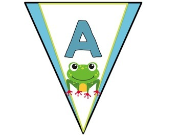 Frog Themed Decor :  Alphabet Banners in a Cute Frog Theme