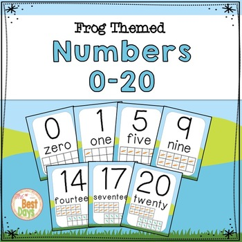 Frog Themed Decor :  Numbers 0-20 in a Cute Frog Theme