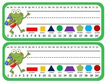 Frog Themed Desk Nameplates