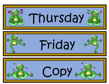 Frog Themed Drawer Labels
