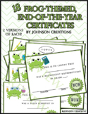 Frog-Themed, End-of-the-Year Certificates