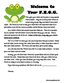 Frog Themed Folder