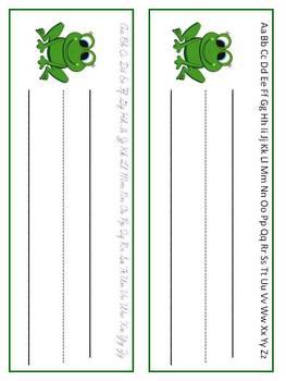 Frog Themed Folder Labels & Desk Plates