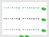 Frog Themed Homework Materials Binder  Spin Labels