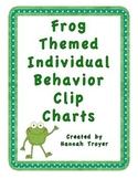 Frog Themed Individual Behavior Clip Charts
