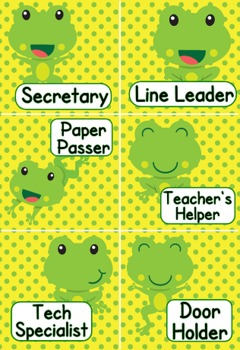 Frog Themed Job Display // Cards
