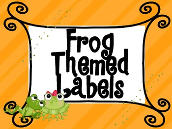 Frog Themed Labels