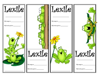 Frog Themed Lexile Bookmarks