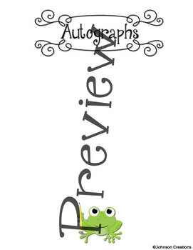 Frog Themed Memory Book