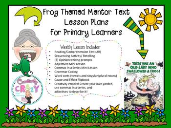 #presidentsdaydeals Frog Themed Mentor Text Lesson Plans