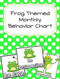 Frog Themed Monthly Behavior Charts (Editable)
