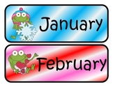 Frog Themed Monthly Calendar Headers