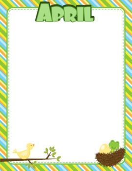 Frog Themed Monthly Newsletters