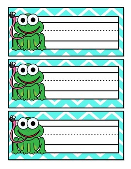 Frog Themed Name Tags {FREEBIE!}