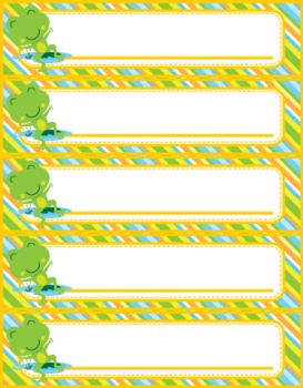 Frog Themed Name Tags // Plates