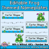 Frog Themed Editable Name plate / Desk plate / Name tags