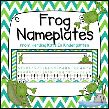 Frog Themed Nameplates