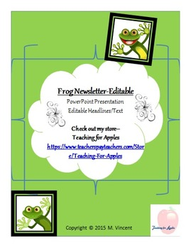 Frog Themed Newsletter