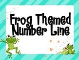 Frog Themed Number Line