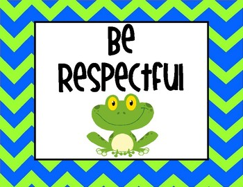 PBIS Frog Themed Expectations Posters