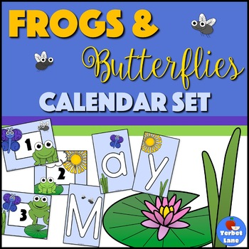 Frog Themed Pocket Calendar Printable