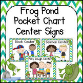 Frog Theme Classroom Center Cards