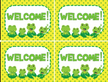 Frog Themed Postcards Students Notes