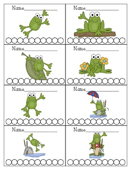 Frog Themed Punch Cards