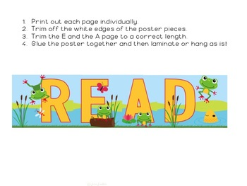 Frog Themed READ Poster