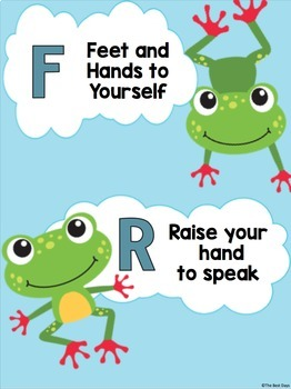 Frog Themed Rules Freebie