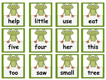 Frog Themed Scott Foresman Reading Street High Frequency Words Unit 1 Gr. 1