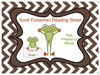 Frog Themed Scott Foresman Reading Street High Frequency Words Unit 1.R Gr. 1