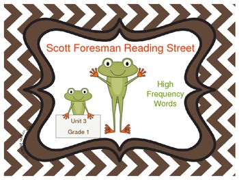 Frog Themed Scott Foresman Reading Street High Frequency Words Unit 3 Gr. 1