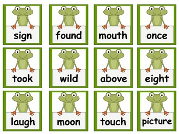 Frog Themed Scott Foresman Reading Street High Frequency Words Unit 4 Gr. 1