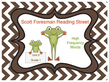 Frog Themed Scott Foresman Reading Street High Frequency Words Unit 5 Gr. 1